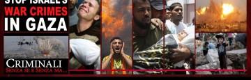 Criminali sionisti in Gaza