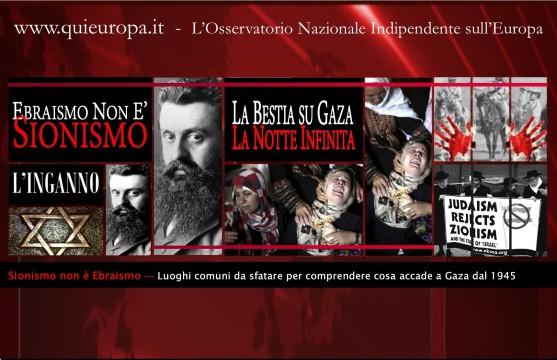 Ebraismo - Sionismo - Gaza