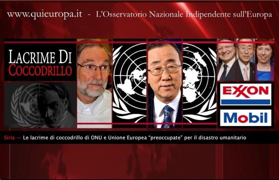 Onu e Unione Europea - Siria - Exxon-Mobil