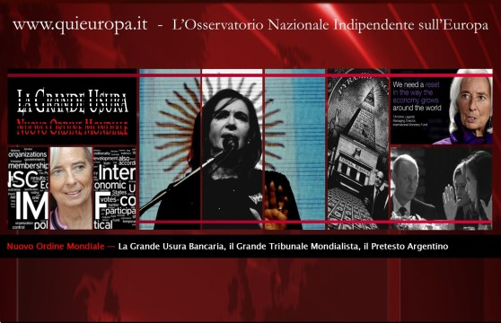 New World Order - FMI - IMF - Argentina - Usura
