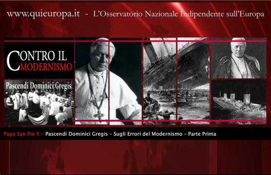 San Pio X - Contro il Modernismo