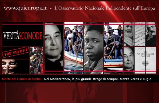 900 morti nel Mediterraneo - Piano Kalergi - tragedia