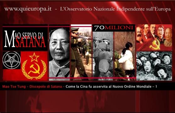 Cina - Nuovo Ordine Mondiale - Mao Tse Tung