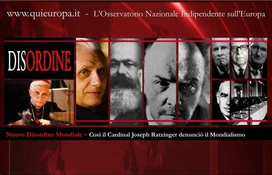 Nuovo Disordine Mondiale - Ratzinger