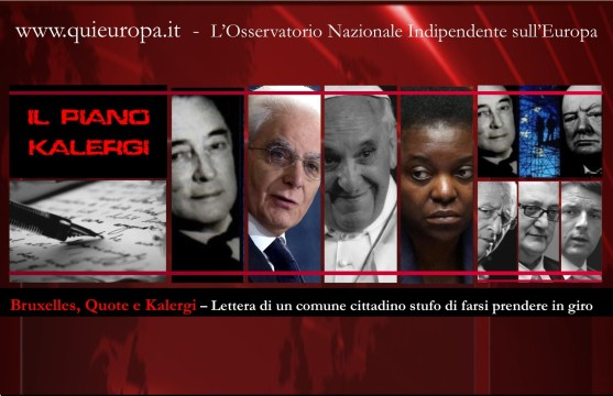 Piano Kalergi - Quote -Unione Europea