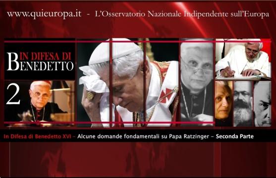 In difesa di Papa Benedetto XVI - 2