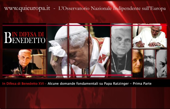 In difesa di Papa Benedetto XVI - di Patrizia Stella e Sergio Basile