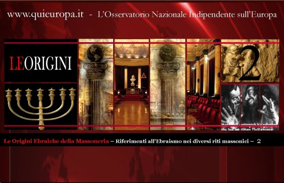 Origini ebraiche della Massoneria - riti e termini