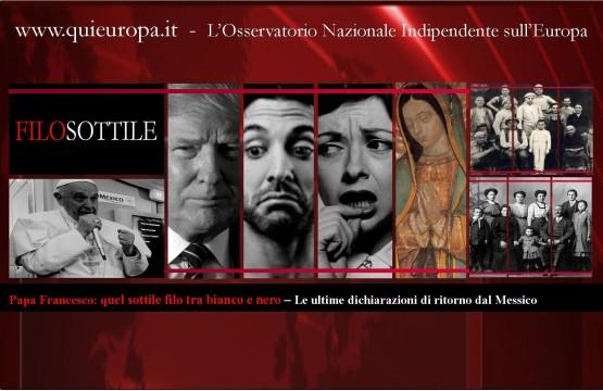 Papa francesco - Messico - Unioni civili - Donald Trump