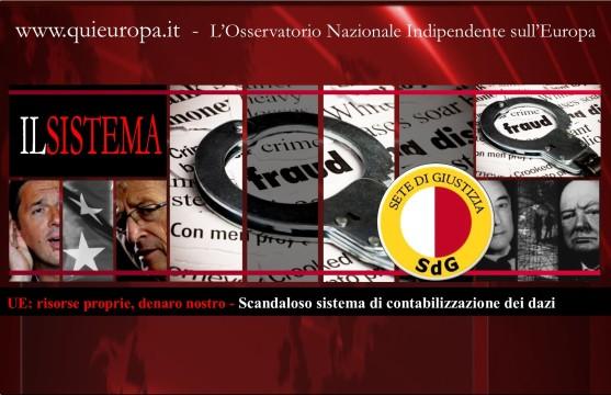 sete di giustizia - SISTEMA CONTABILIZZAZIONE DAZI UE