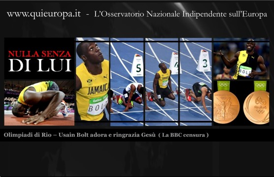 Usain Bolt ringrazia Gesù