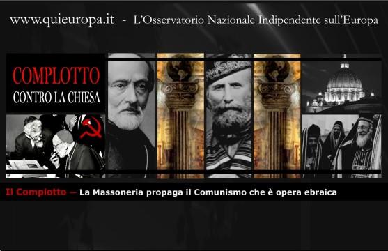 La Massoneria propaga il Comunismo che è opera ebraica