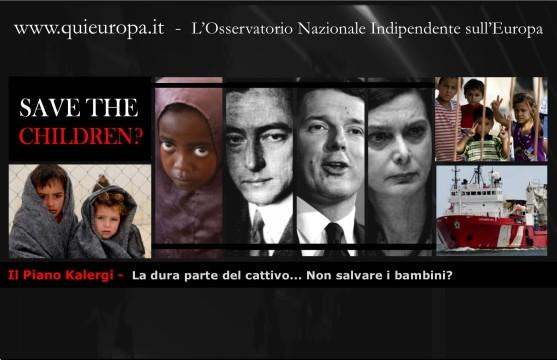 Il Piano Kalergi - save the children - bambini