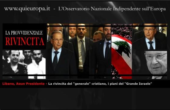 """Libano, Aoun Presidente - La rivincita del """"generale"""" cristiano"""