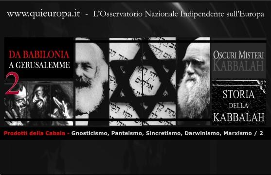 Prodotti della Cabala - Gnosticismo,Panteismo, Sincretismo, Darwinismo,Marxismo