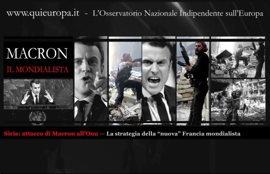 Redazione Quieuropa, Siria, Macron, Francia, Onu, Terrorismo, Occidente, Assad, Mondialismo
