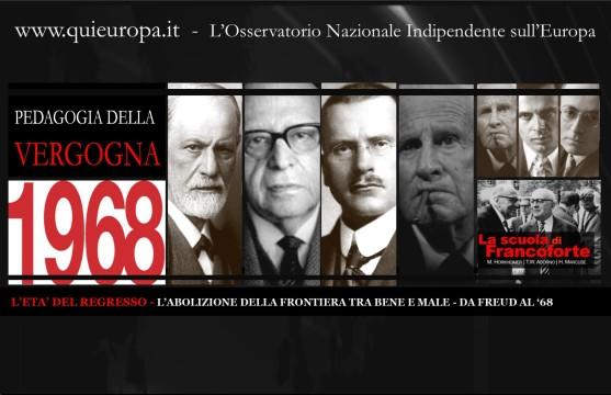 L'ETA' DEL REGRESSO - FREUD - SCUOLA DI FRANCOFORTE