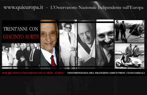 Francesco Cianciarelli, Giacinto Auriti